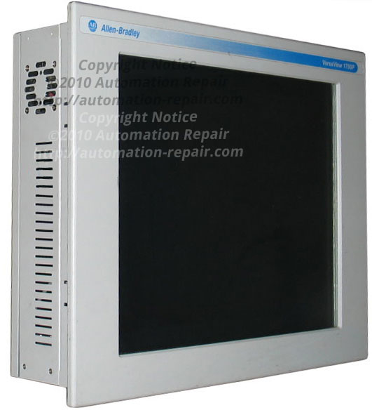 Allen Bradley 1700p 6181p versaview industrial display computer blank screen black screen no display no power dim